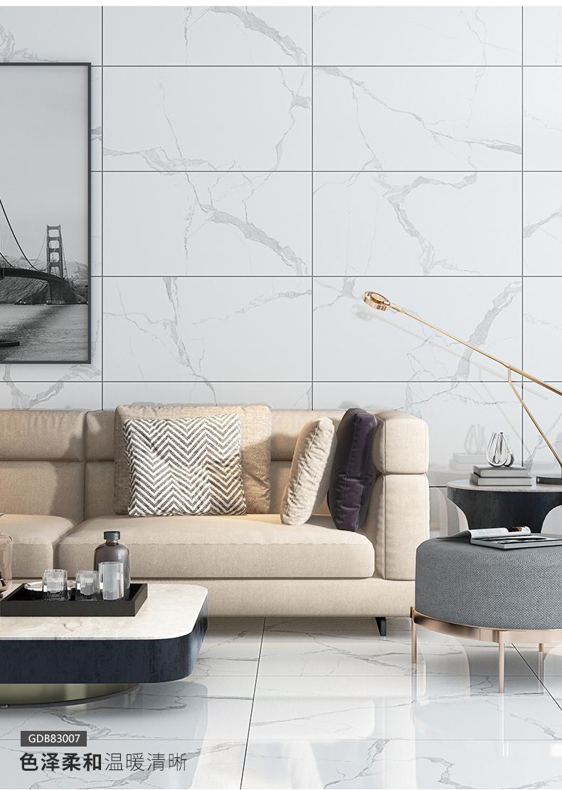 印象巴洛克陶瓷白色大理石瓷砖,是经典也是潮流